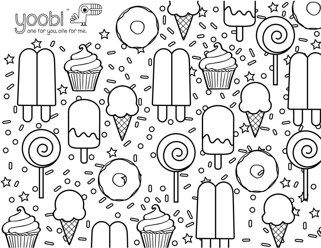 1024x793 Sweet Treats Coloring Pages