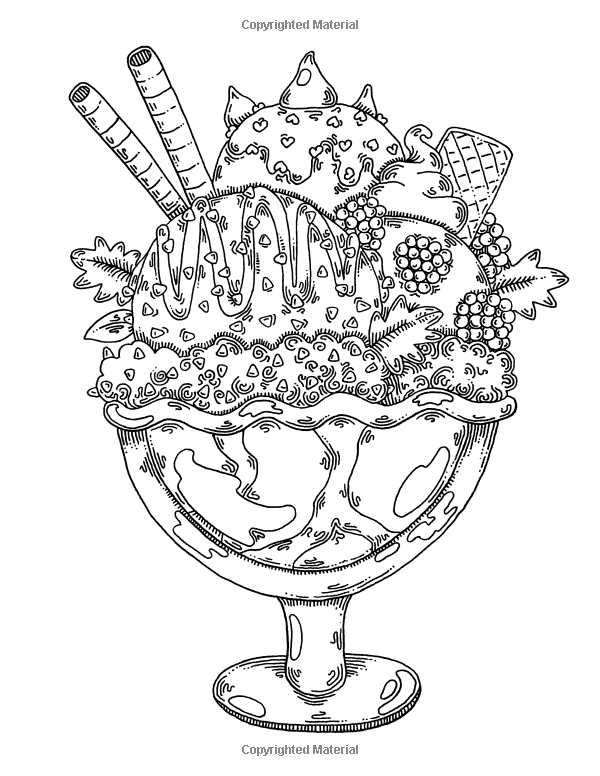 600x776 Dairy Delights A Sweet Treat Coloring Book
