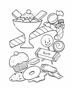 236x288 Sweet Treats A Coloring Book