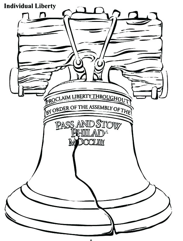 600x792 Bell Coloring Pages Individual Liberty Bell Coloring Pages Free