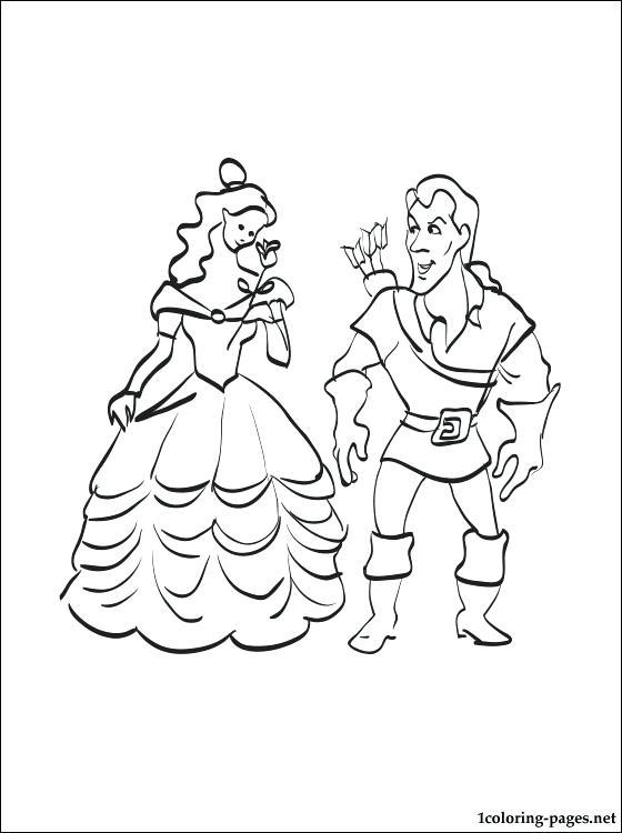 560x750 Belle Coloring Pages Belle Coloring Pages Belle Looking