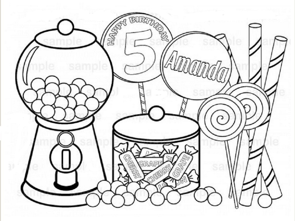 Sweets Coloring Pages At Getdrawings Free Download