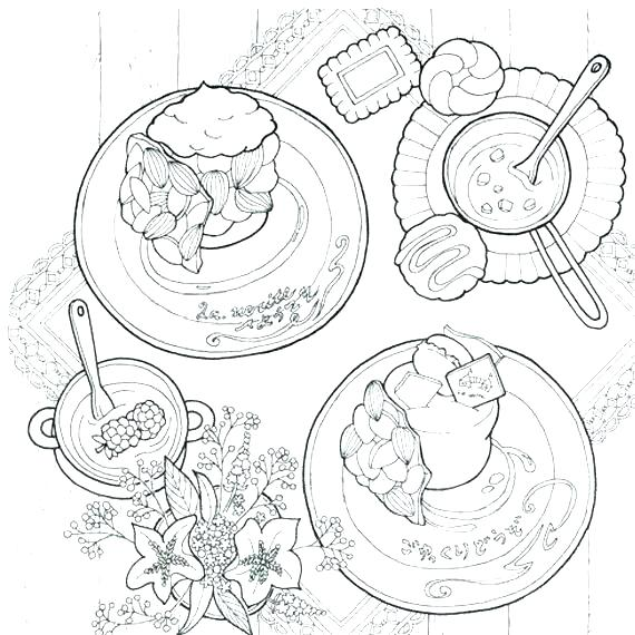 570x570 Coloring Pages Sweets Bakery Bread Travel Sweet With Genius Duck
