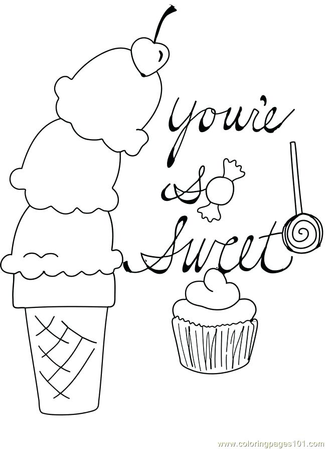650x894 Sweets Coloring Pages Boy Eating Sweets Coloring Page Sweets