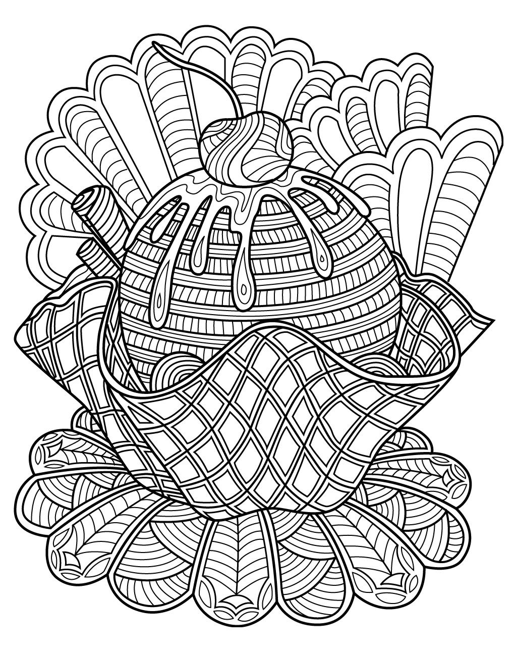 1019x1293 Sweets Coloring Page Colorish Free Coloring App For Adults