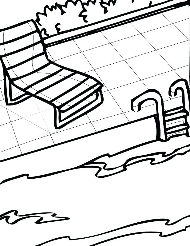 618x800 Swimming Coloring Pages Swimming Pool Coloring Pages Swimming