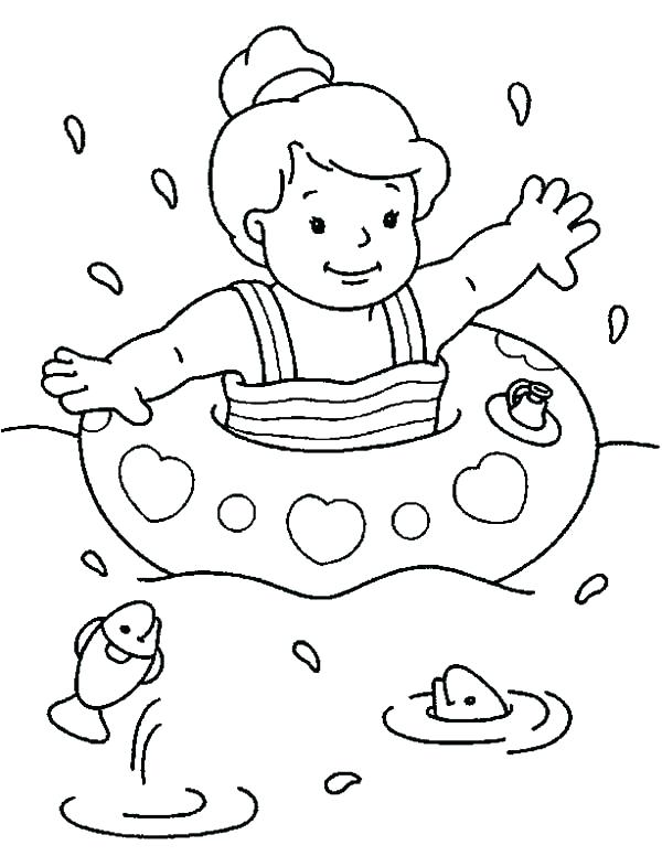 600x776 Swimming Pool Coloring Pages Swim Coloring Pages Swimming