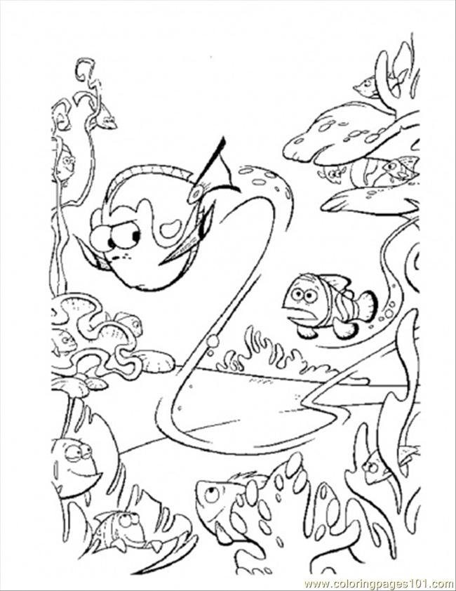 650x842 Dory Swim Too Fast Coloring Page