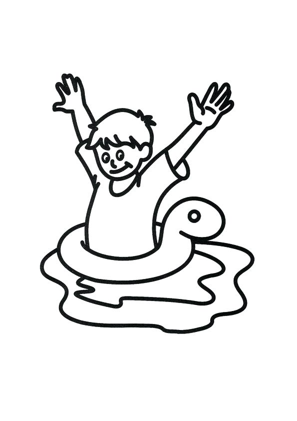 595x842 Swimming Coloring Page People Who Swim Colouring Pages Swimming