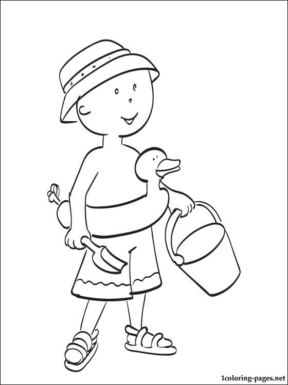 560x750 Caillou Goes To Swim Coloring Page Coloring Pages