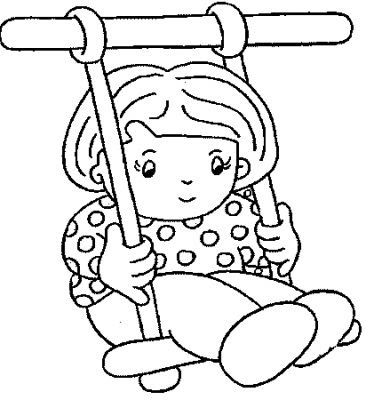 366x400 Kids Coloring Pages Playground Safety Playground
