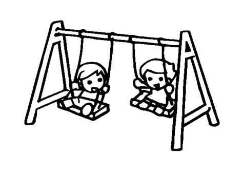 476x333 Playground Swings Coloring Pages Page Image Clipart Images