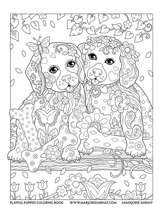 618x800 Puppies On A Swing Playful Puppies Coloring Book