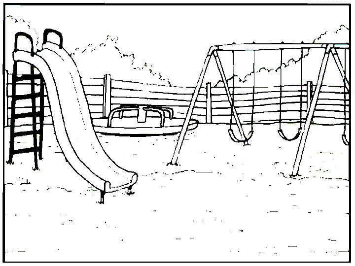 720x540 Swing Set Coloring Page