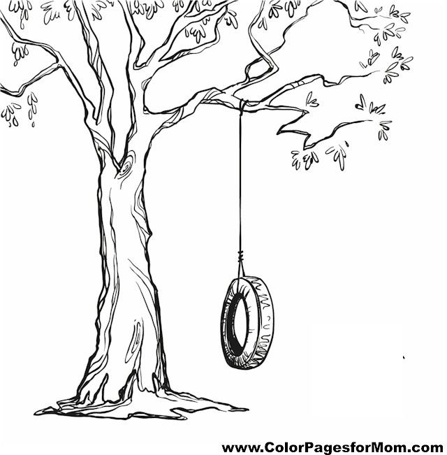 640x651 Swing Set Coloring Pages