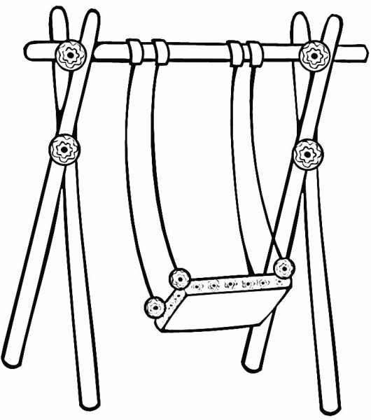 530x600 Swing Set Coloring Pages