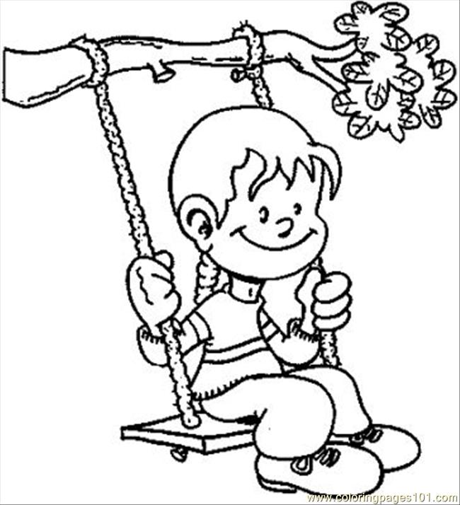 650x714 Swings Coloring Page