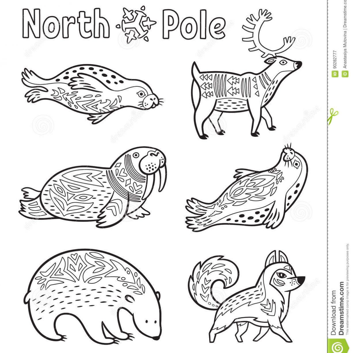 1224x1224 Arctic Animals Ringed Seals Coloring Page Free Pages Printable