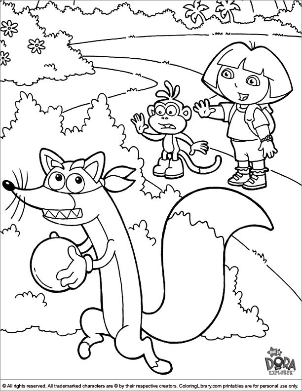 612x792 Dora The Explorer, Swiper No Swiping Coloring Page Coloring