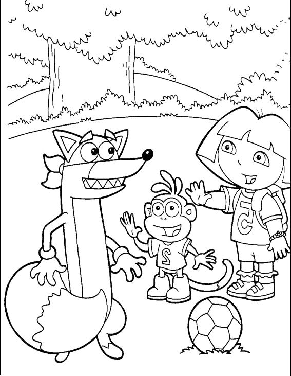 567x731 Say Hello To Swiper Dora And Boots Coloring Pages