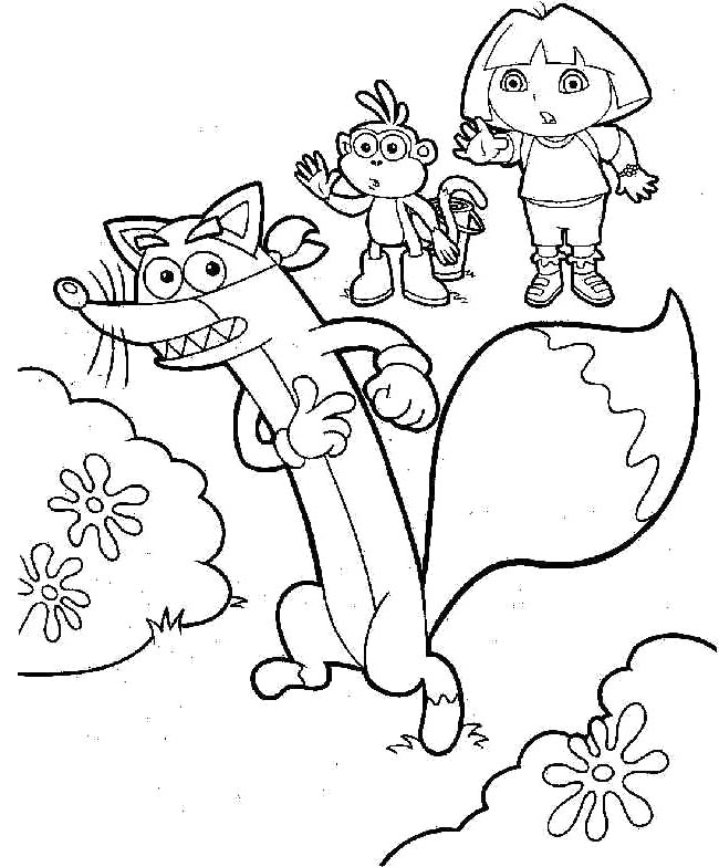 650x784 Dora Swiper Coloring Pages Dora And Boots With Swiper Coloring