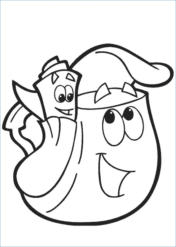 607x850 Dora The Exlorer Boots Swiper And Lion Coloring Page