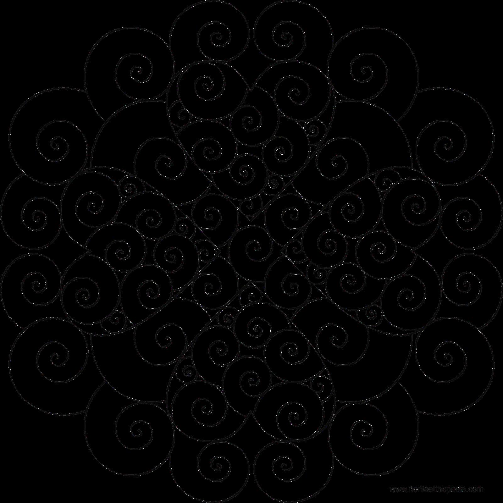 1600x1600 Heart Swirl Mandala Mandala, Mandala Printable And Zentangles