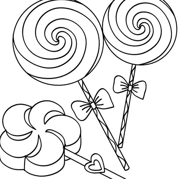600x600 Lollipop Coloring Pages Lollipop Pictures To Color Drawn Swirl
