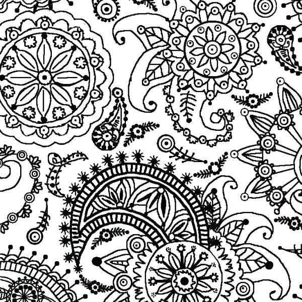 600x600 Flower Design Coloring Pages Pattern Color Pages Swirl Pattern