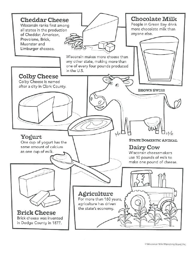 651x854 Dairy Products Coloring Pages Dairy Cow Dairy Products Colouring