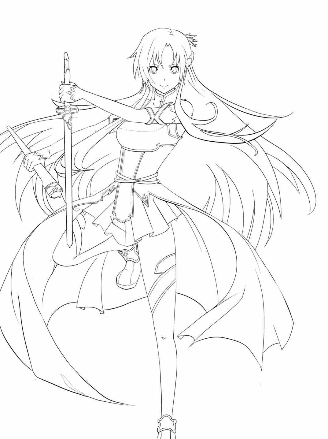 1073x1435 Luxury Kirito And Asuna Coloring Pages Sword Art Online Page