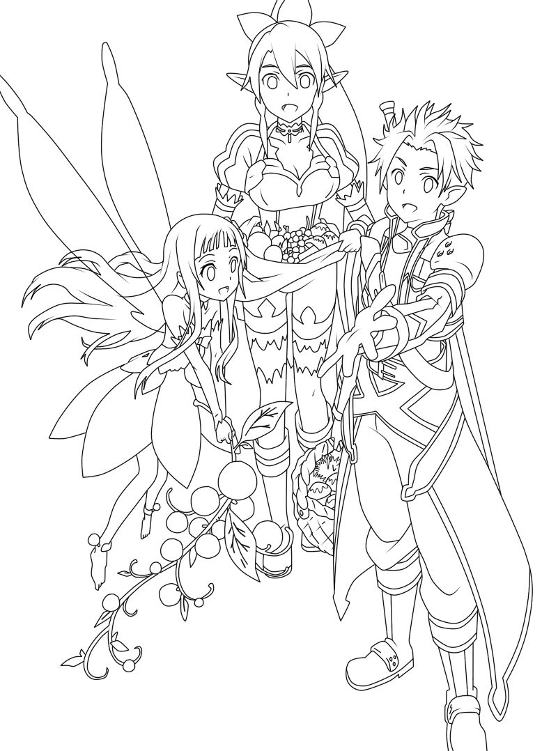 778x1078 Pins For Kirito Coloring Pages From Coloring Pages