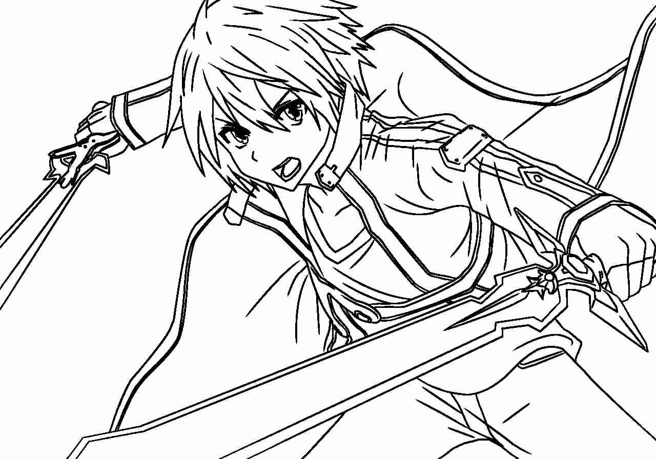 32 sword art online coloring pages  free printable