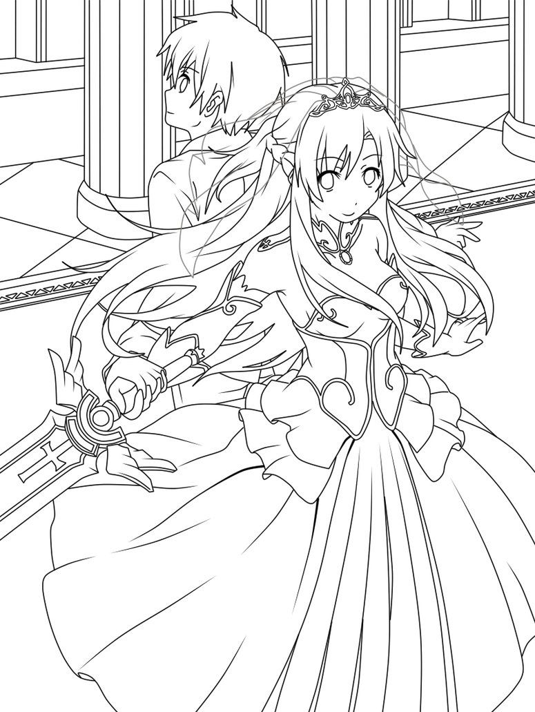 775x1031 Appealing Sword Art Online Coloring Pages Many Interesting