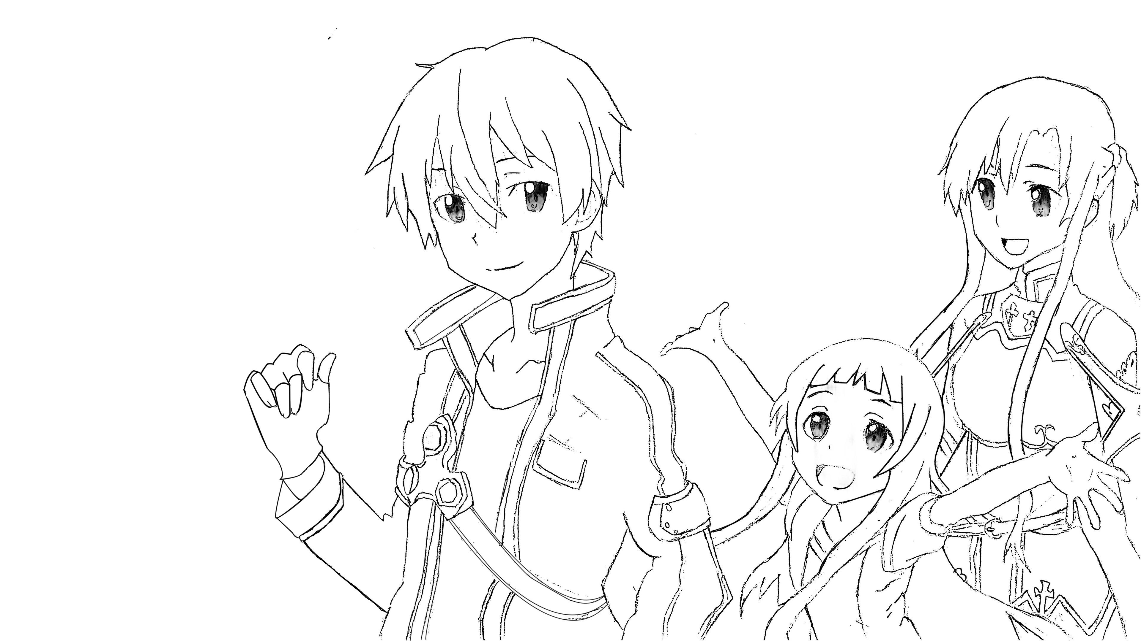 3840x2160 Kirito Asuna Yui On Kiri A Family Collection Of Sword
