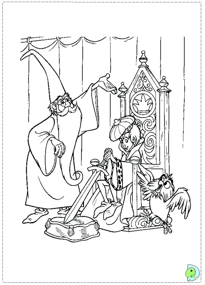 691x960 Sword In The Stone Coloring Pages The Sword In The Stone Coloring