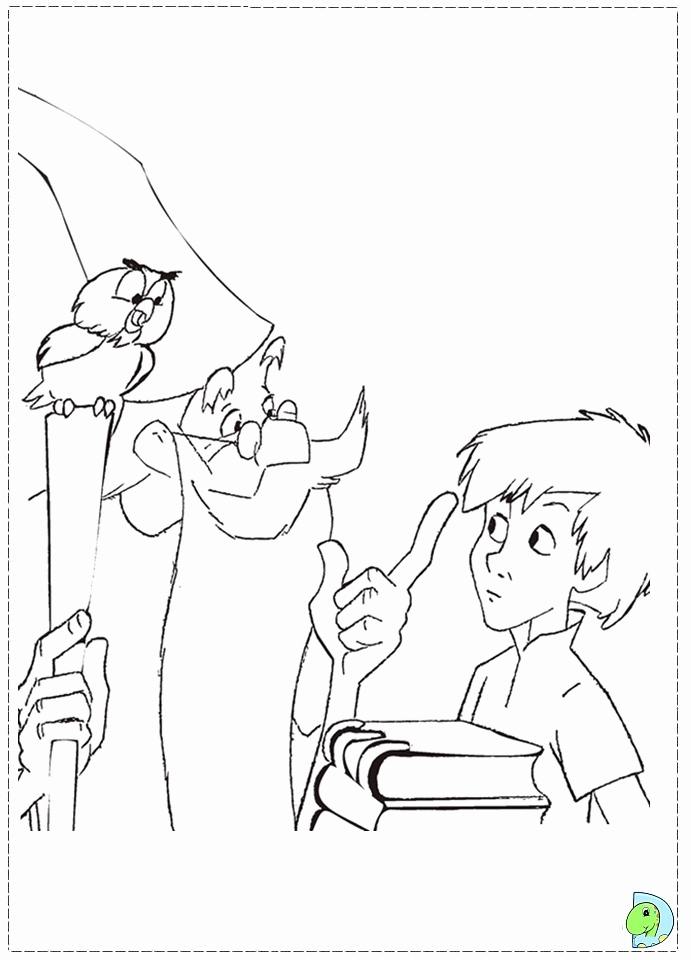 691x960 The Sword In The Stone Coloring Pages Collection King Arthur