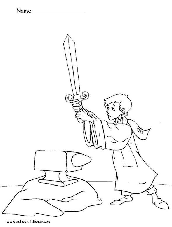 589x778 For Medieval Week Sword And The Stone Coloring Pages