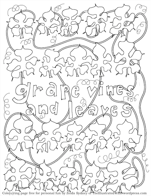 483x627 Coloring Pages The Illustrated Wine The Illustrated Wine