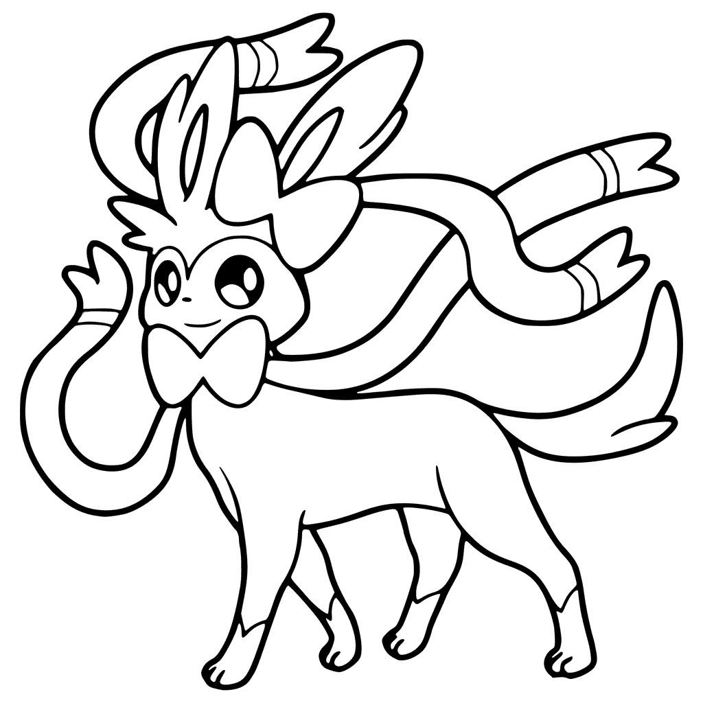 1024x1024 Pokemon Sylveon Coloring Pages Printable Q