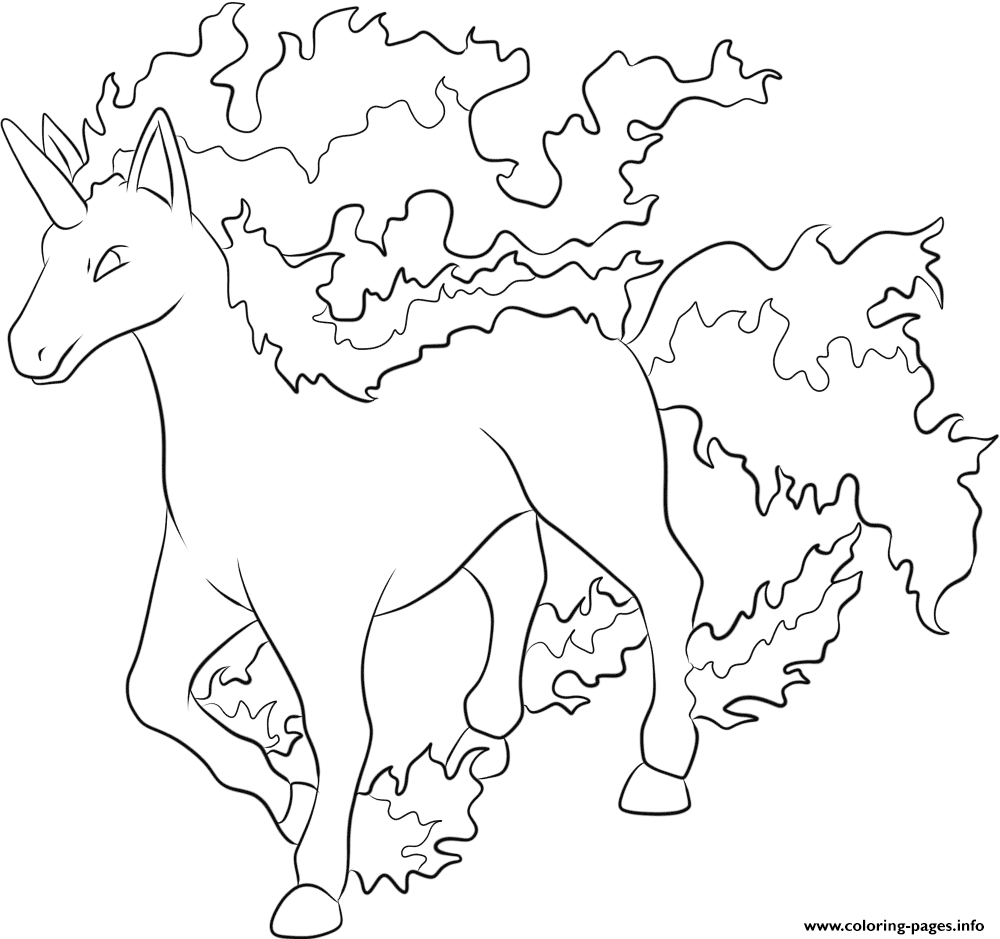 1000x939 Print Rapidash Pokemon Coloring Pages New Coloring Sheets