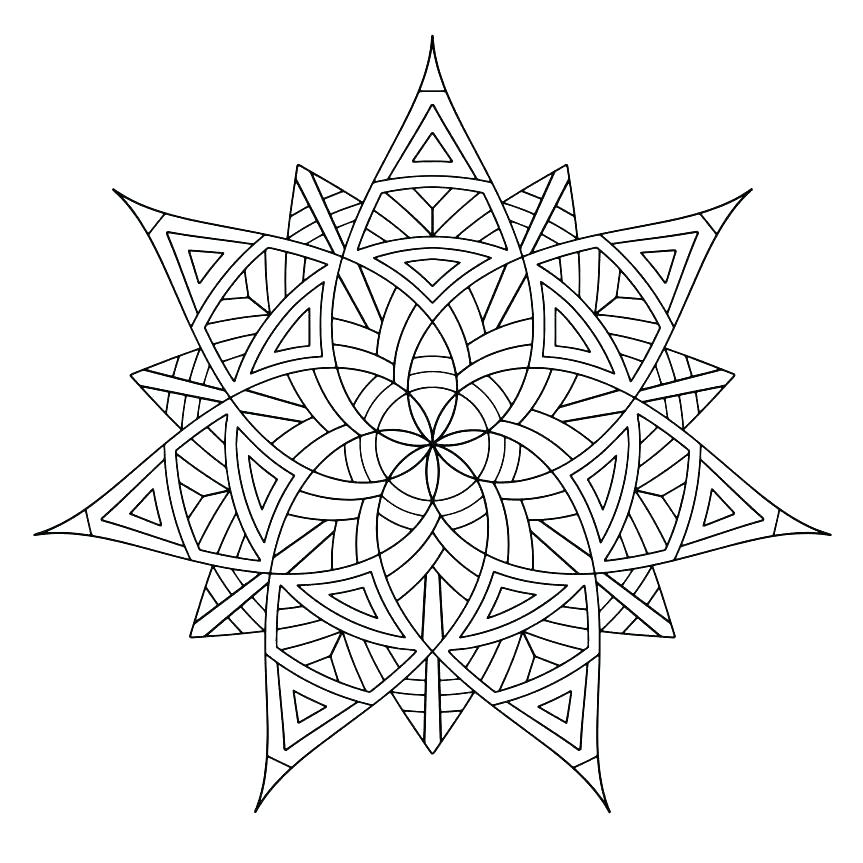 863x863 Exciting Symmetrical Coloring Pages Exciting Symmetrical Coloring