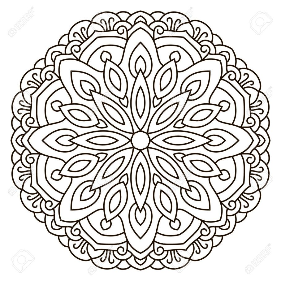 908x908 Great Circular Coloring Pages Inspiring Symmetrical Pattern