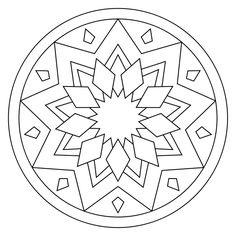 236x236 Mandala Coloring Pages For Kids