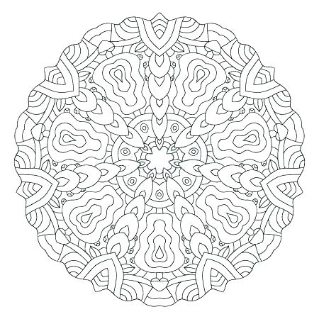 450x450 Mandala Design Coloring Pages Symmetrical Coloring Pages