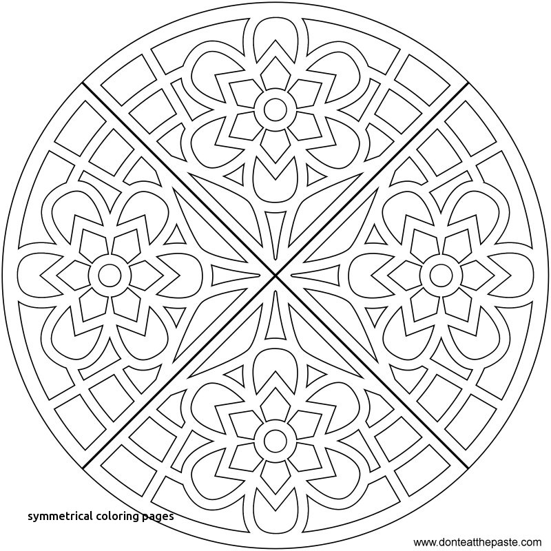 800x800 Symmetrical Coloring Pages