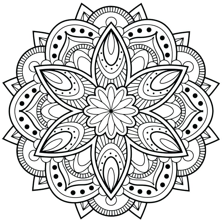 736x736 Symmetrical Coloring Pages Flower Mandala Coloring Sheets Lotus