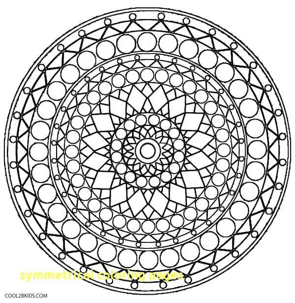 600x616 Symmetrical Coloring Pages Symmetrical Coloring Pages