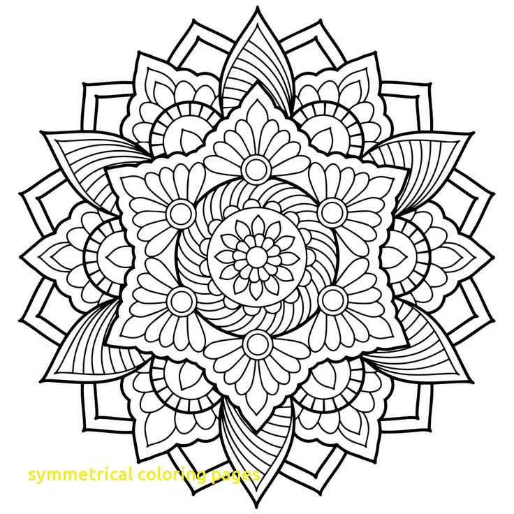 736x736 Symmetrical Coloring Pages With Best Mandala Coloring Ideas