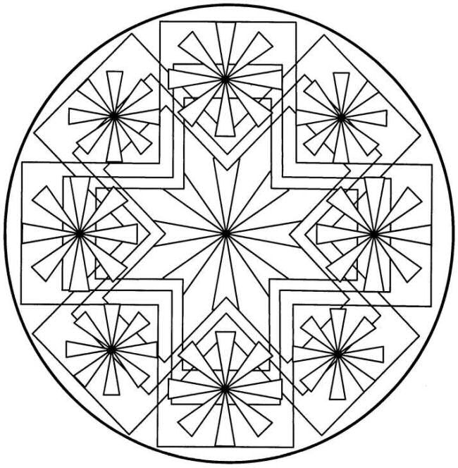 650x664 Symmetrical Coloring Pages
